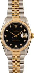 Pre-Owned Two Tone Rolex Datejust 16233 Diamond Dial