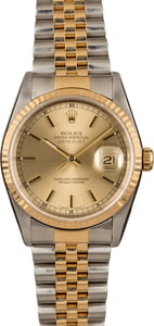 Pre-Owned Rolex Champagne Datejust 16233