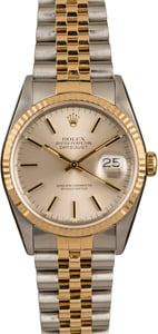 Pre-Owned Rolex 36MM Datejust 16233 Silver Dial
