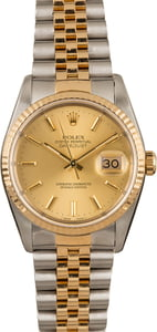 Used Rolex Datejust 16233 Champagne Dial Watch