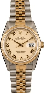 Pre-Owned Rolex Datejust 16233 Ivory Roman Dial