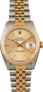Pre-Owned Two Tone Rolex Datejust 16233 Jubilee Bracelet