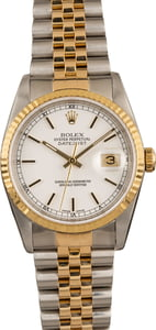 Pre-Owned Rolex Datejust 16233 White Dial Watch