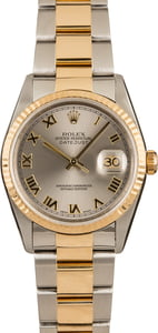 Pre-Owned Rolex Datejust 16233 Slate Roman Dial