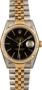 PreOwned Rolex Datejust 16233 Two Tone Watch