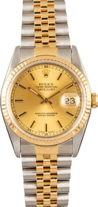 Used Rolex Two Tone Datejust 16233