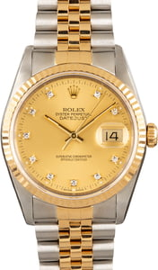Men's Rolex Datejust 16233 with Diamonds