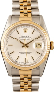 Used Rolex Datejust 16233 Two Tone Silver Dial