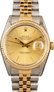 Used Rolex Datejust 16233 Two Tone Jubilee Champagne Dial