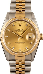 Datejust Rolex 16233 Champagne Diamond