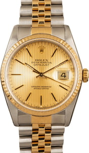 Rolex Datejust 16233 Champagne Tapestry Dial