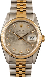 Pre Owned Rolex Datejust 16233 Jubilee Diamond Dial