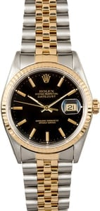 Rolex Datejust 16233 Black Dial 100% Authentic