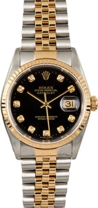 Rolex Datejust 16233 Black Diamond
