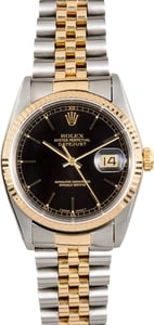 Rolex Datejust 16233 Black Index