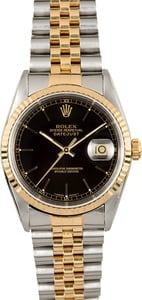 Rolex Datejust 16233 Black Index 100% Authentic