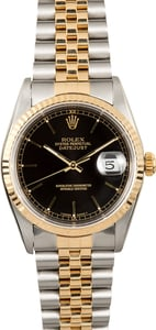 Rolex Datejust 16233 Black Index Dial 100% Authentic