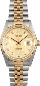 Rolex Two-Tone Datejust 16233 Jubilee Diamond