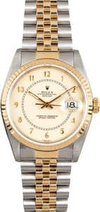 Rolex Datejust 16233 Ivory Arabic Dial