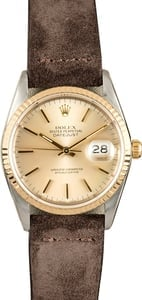 Rolex Datejust 16233 Leather Strap