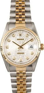 Rolex Datejust 16233 Silver Jubilee Diamond