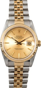 Rolex Datejust 16233 Tapestry Champagne