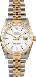 Rolex Two-Tone Datejust 16233 White Dial Pre-Owned