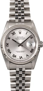 PreOwned Rolex Datejust 16234 Rhodium Roman