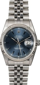 Rolex Datejust 16234 Blue Index Dial