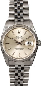 Rolex Datejust 16234 Silver Index Dial