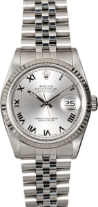 Pre-Owned Rolex Datejust 16234 Silver Roman Dial