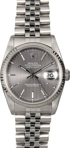 Rolex Datejust 16234 Slate Tapestry Index Dial