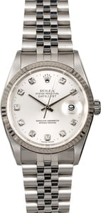 Pre Owned Rolex Diamond Datejust 16234