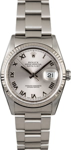 Rolex Datejust 16234 Rhodium Dial