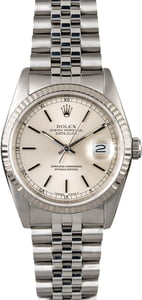 Rolex Datejust 16234 Silver Dial Steel Jubilee Band