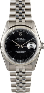 Used Rolex Datejust 16234 Black Dial