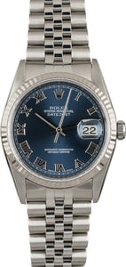 Rolex Steel Datejust 16234 Blue Dial