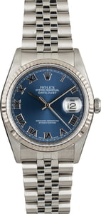 PreOwned Rolex Datejust 16234 Blue Roman Dial