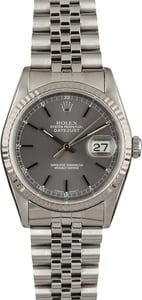 Rolex Datejust 16234 Slate Index Dial