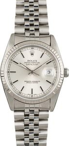 Used Rolex Datejust 16234 Silver Index Dial