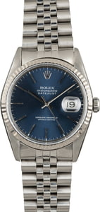 Pre Owned Rolex Datejust 16234 Blue