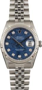 Pre Owned Rolex Datejust 16234 Lapis Diamond Dial