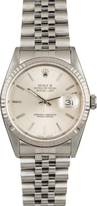 Pre Owned Rolex Datejust Silver Dial 16234