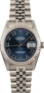 PreOwned Rolex Steel Datejust 16234 Blue Dial