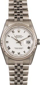 Used Rolex DateJust 16234 Roman Dial