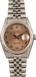 PreOwned Rolex Steel Datejust 16234 Salmon Dial