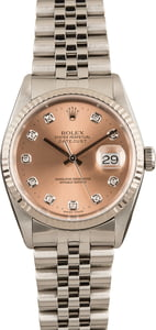 Datejust Rolex 16234 Steel Jubilee Diamonds