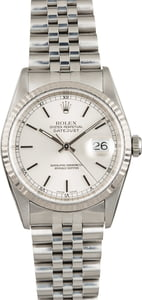 Used Rolex Datejust 16234 Silver Dial with Steel Jubilee