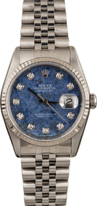 Pre Owned Rolex Datejust 16234 Sodalite Diamond Dial