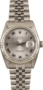 Pre-Owned Rolex Datejust 16234 Roman Markers